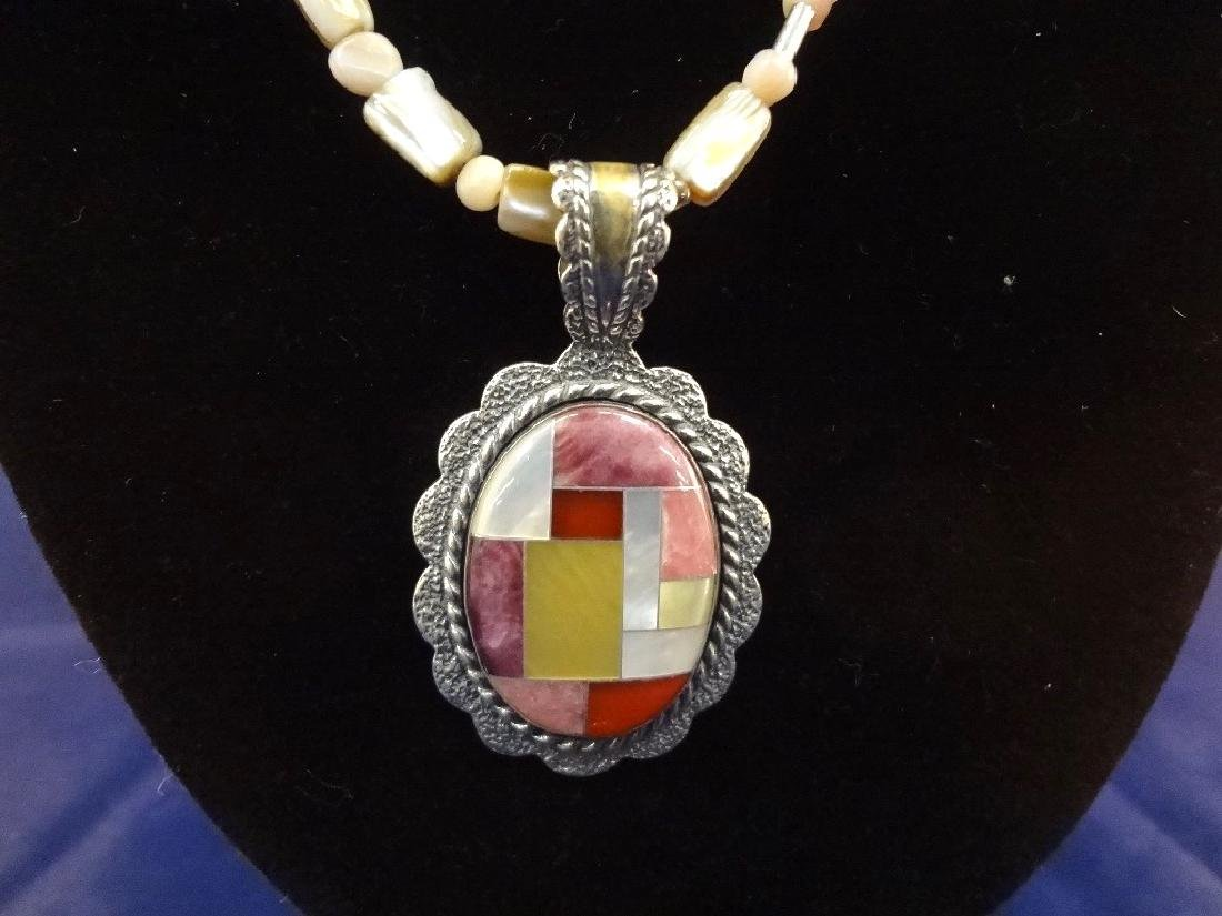 Carolyn Pollack Sterling Silver Necklace, Pendant and - 2