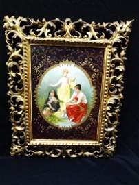 "Royal Vienna Hand Painted Portrait Plaque ""Die Drei"