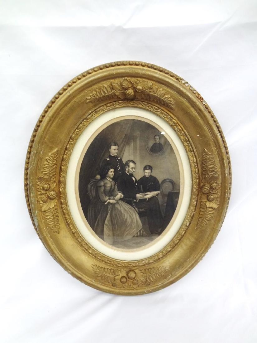 "A.B. Walter Abraham Lincoln Engraving ""Lincoln Family"""