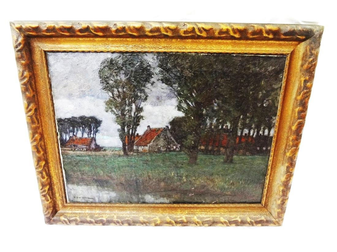 Original Oil on Canvas Painting Signed G.D.E. Waal Gilt