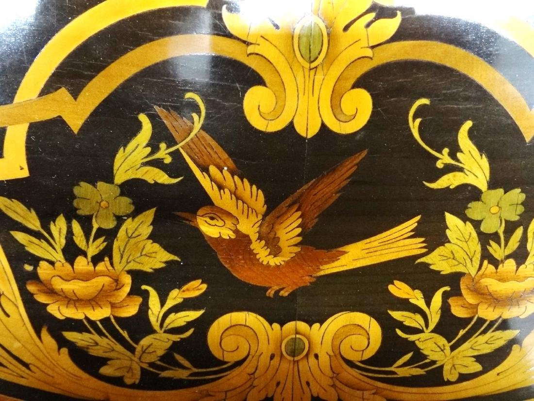 Louis XV Ormolu Mounted Inlaid Marquetry Center Table - 4