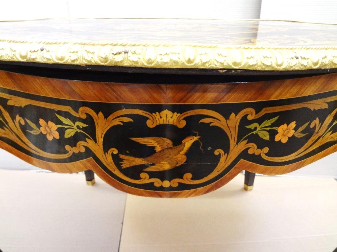 Louis XV Ormolu Mounted Inlaid Marquetry Center Table - 5