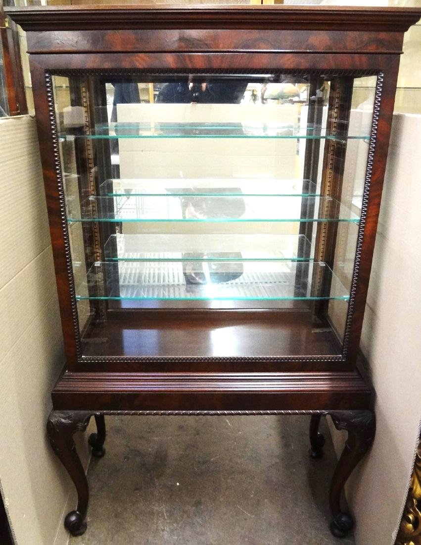 Queen Anne Style Vitrine on Legs One Complete Sliding