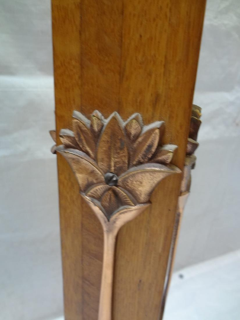 Mission style Oak and Copper and Hallway Torchiere - 6