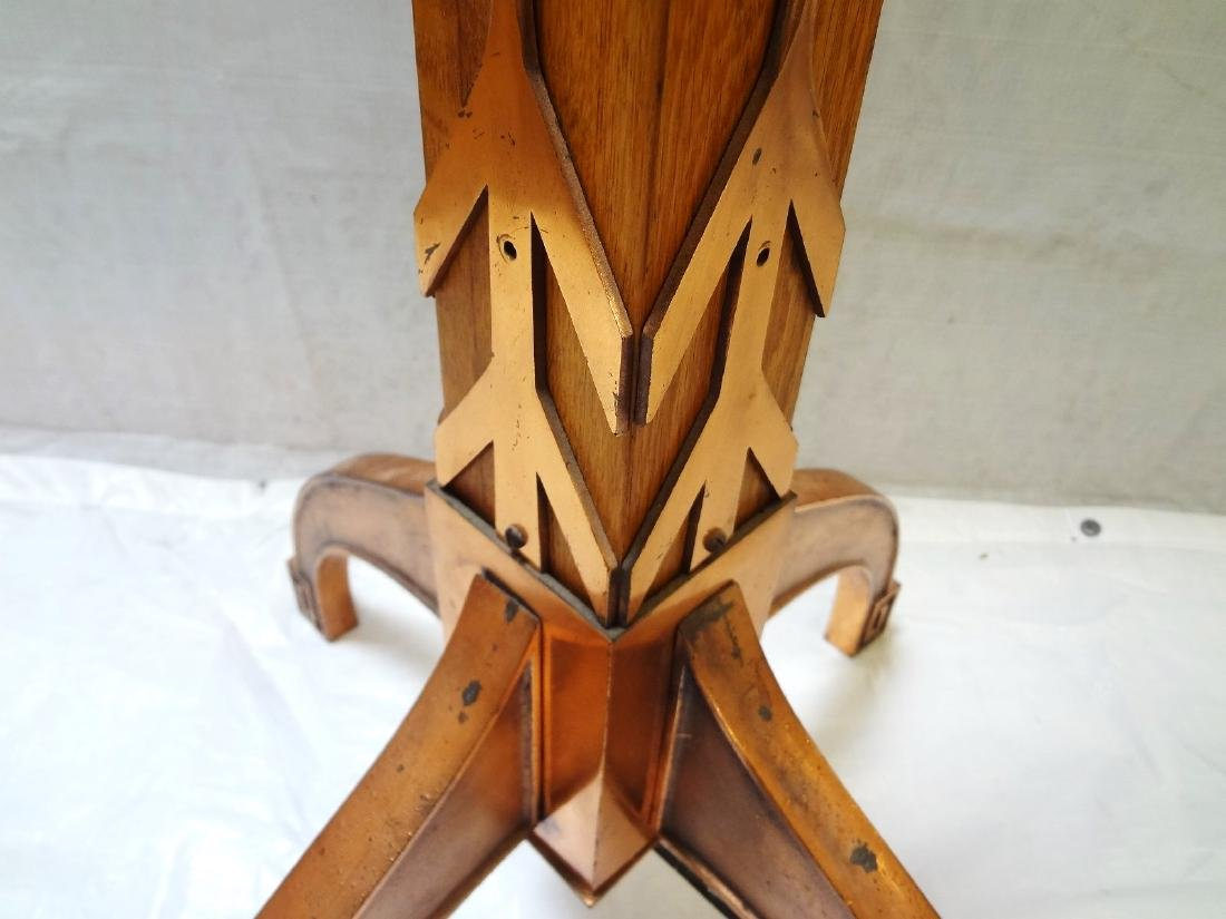 Mission style Oak and Copper and Hallway Torchiere - 7