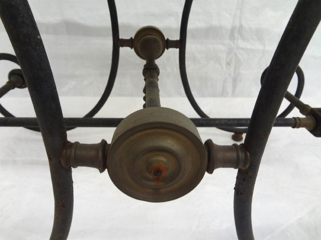Brass Mounted Cast Iron Marble Top Baker's Table - 3