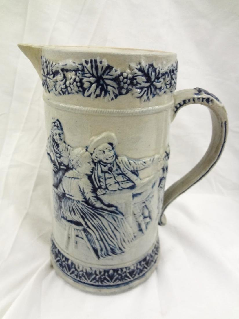 Whites Utica Pair Salt Glaze Stoneware Pitchers - 2