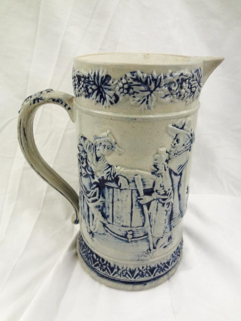 Whites Utica Pair Salt Glaze Stoneware Pitchers - 3