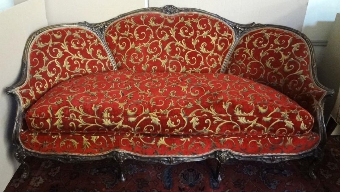 Rococo Revival Three Medallion Sofa