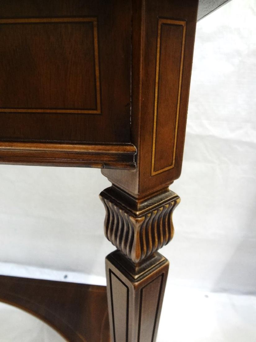 Pair Federal Style Glass Top Console Tables - 5