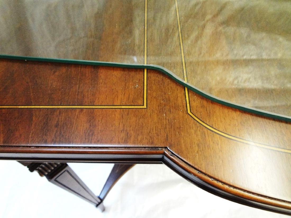 Pair Federal Style Glass Top Console Tables - 7