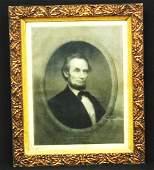 William Marshall Engraving Abraham Lincoln Period Leaf