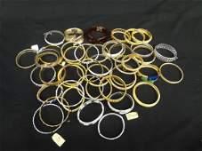 (46) Trifari Costume Bangle and Hinged Bracelets