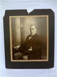 President William McKinley Oversize Photograph Signed