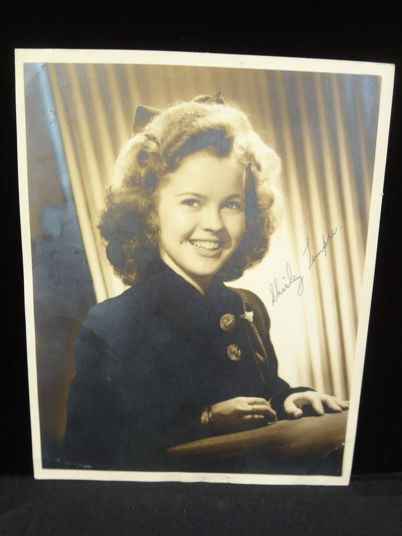 Shirley Temple Autographed Gelatin Photograph 8 x 10
