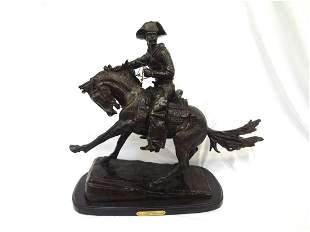 "Frederic Remington Large Bronze ""Cowboy"""