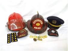 Vintage Ohio Fire Fighters Memorabilia: Helmets,