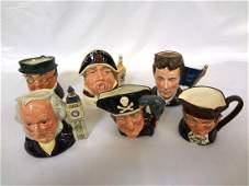 (6) Royal Doulton Small Character Mugs