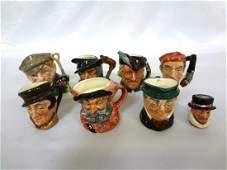 (8) Royal Doulton Small Character Mugs
