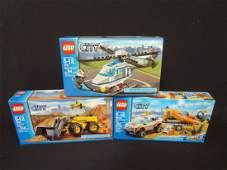 3 LEGO Unopened Sets 7741 Police Helicopter 60012