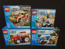 4 LEGO Unopened Sets 4436 Patrol Car 7279 Police