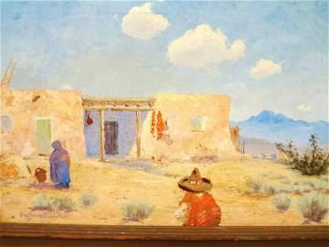 Eugene Bonfanti Thurston (1896-1993) Original Oil
