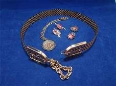 Matisse and Renoir Copper Jewelry Group