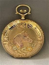 Illinois Multi Color Gold, 17 Jewel, Hunting Case, 12s,