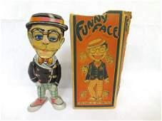Marx Tin Wind Up Harold Lloyd Funny Face With Original