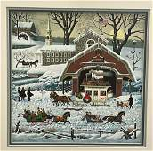 Charles Wysocki Signed Numbered Lithograph Unframed