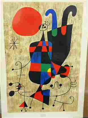"""Joan Miro """"Personnages Inversee"""" Museum Print"""