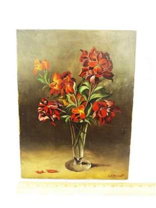 Original Oil Painting on Canvas C.H. Bennett Still Life