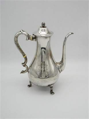 Tuttle Sterling Silver Footed Coffee Pot Made For Webb