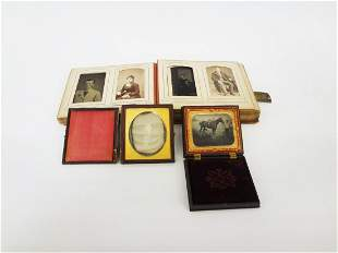 Group of Tin Types and Photo Album With Cabinet Cards