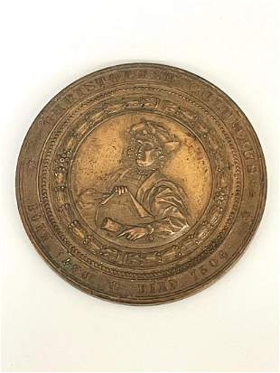 1893 Columbian Exposition Souvenir Medal Christopher