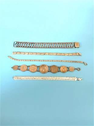 (5) Sterling Silver Bracelet Group