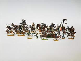 (46) Vintage Flat Lead Toy Soldiers