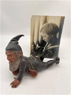 Bernhard Bloch Austrian Polychrome Terracotta Gnome
