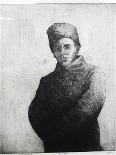 Olexander Kaniuka Ukranian-American (1910-2000) Etching