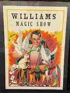 Williams Magic Show Poster 1930's
