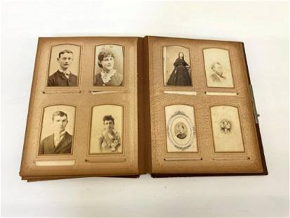 Early Photo Album Full of Cabinet Photos