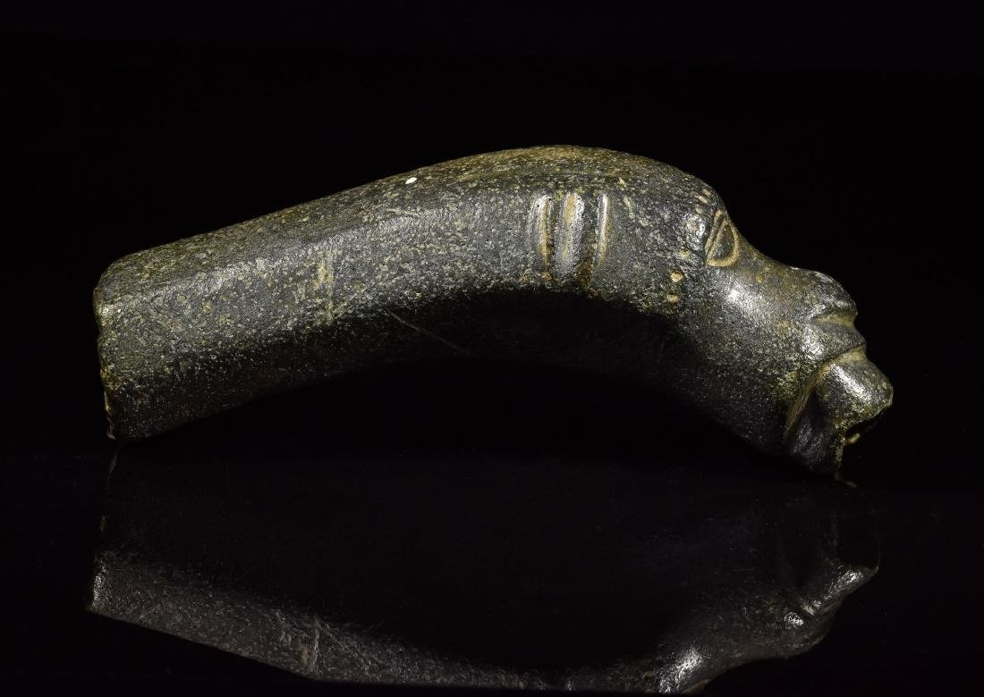 Medieval Bronze Spout with Dog Head Terminal - 3