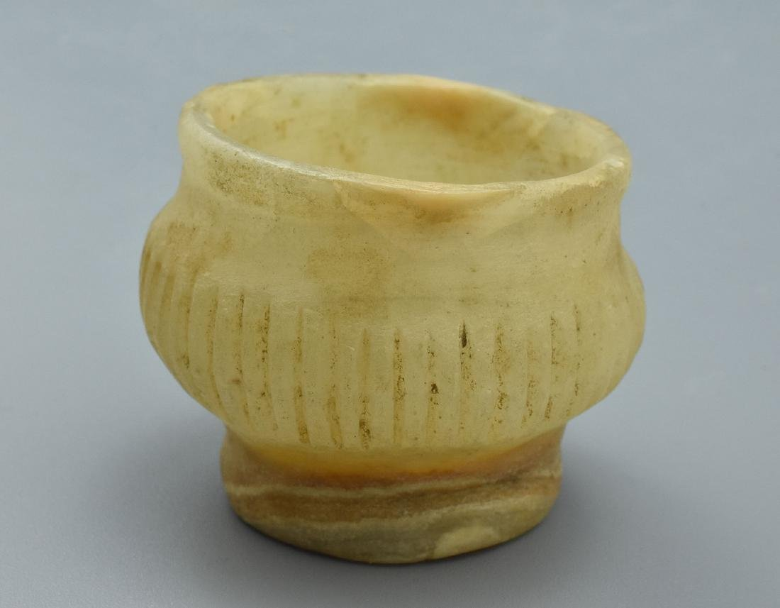 Rare Mesopotamian Alabaster Vessel - 5