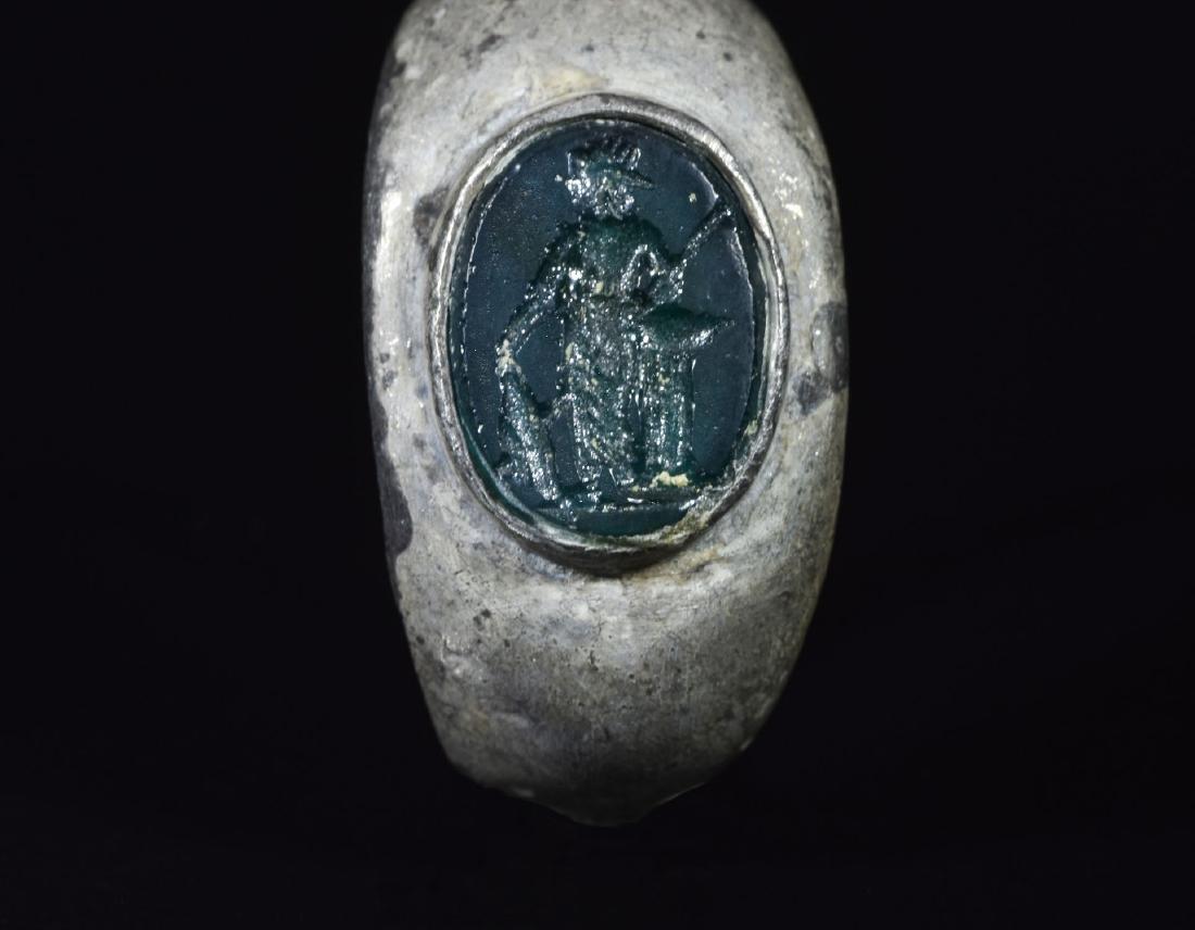 Roman Silver Ring with Mars Intalgio - 2
