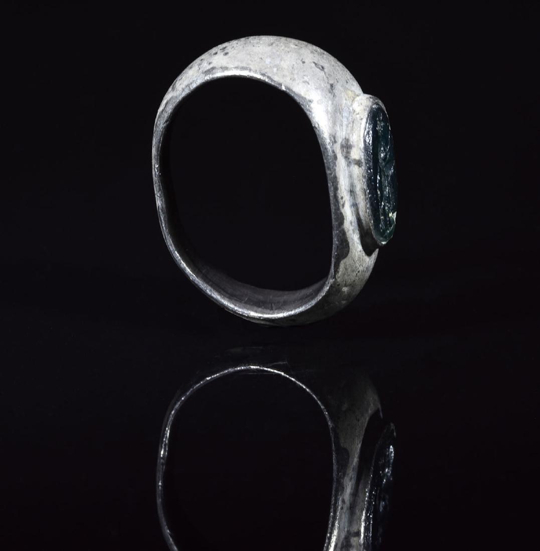 Roman Silver Ring with Mars Intalgio - 3