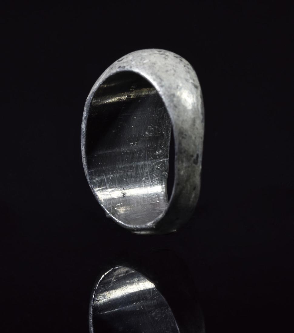 Roman Silver Ring with Mars Intalgio - 4