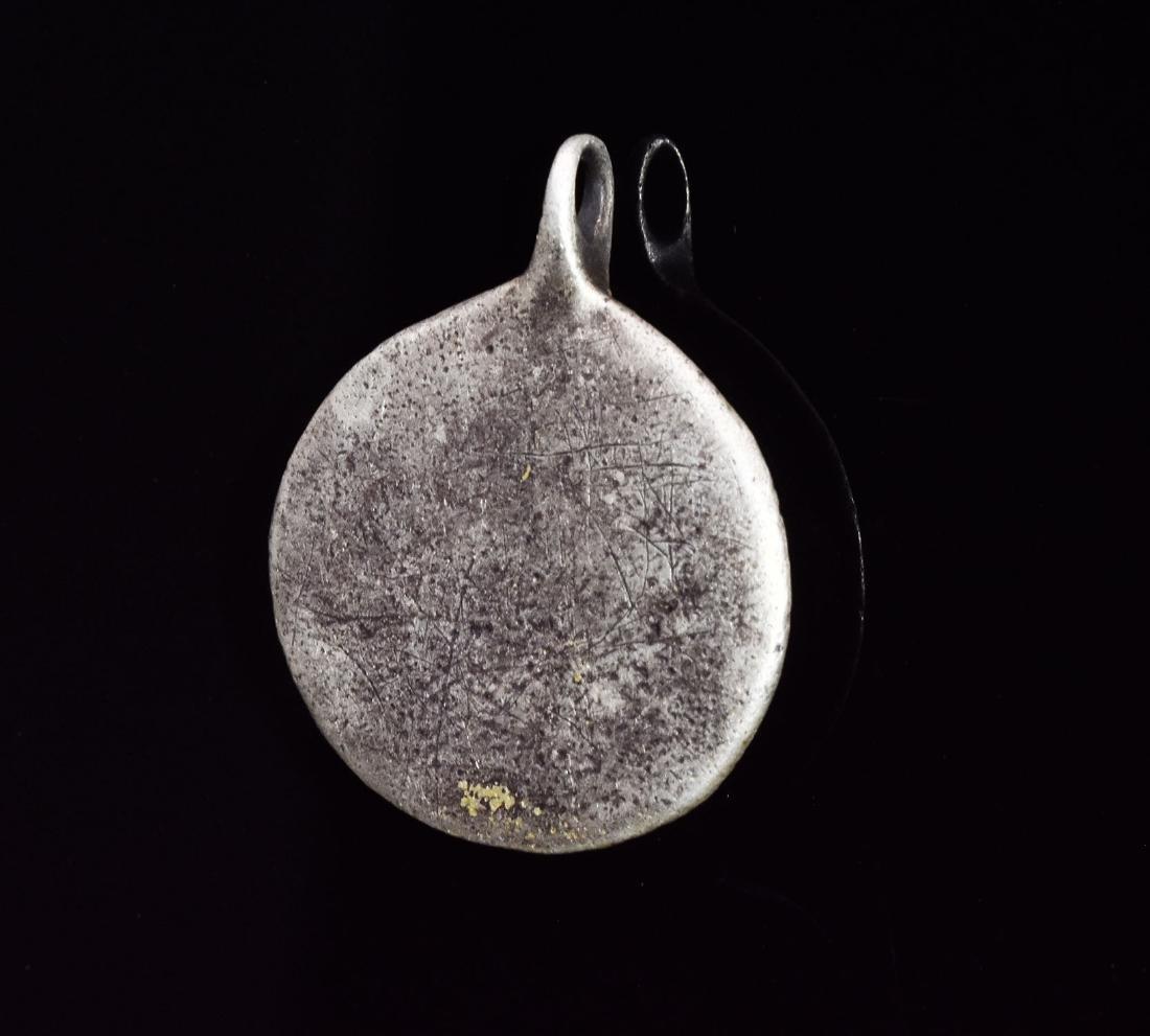 Scandinavian Viking Silver Pendant with Odin - 3