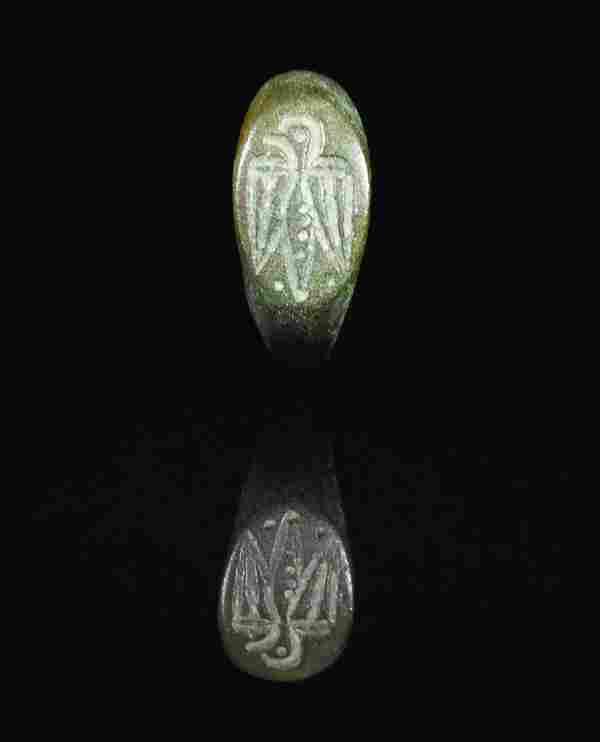 ROMAN LEGIONARY BRONZE RING WITH EAGLE