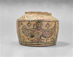 Ancient assyrian terracotta toy bird rattle