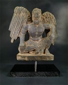 RARE GANDHARA SCHIST PANEL OF GOD ATLAS